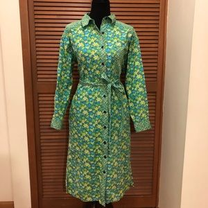 Vintage Lilly Pulitzer floral shirt dress M